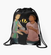 troy and abed - I love when clothes make cultural statements and I think personal style is really cool. Drawstring Bag
