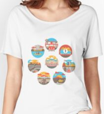 Wes Anderson Films Icon Illustrations Women's Relaxed Fit T-Shirt
