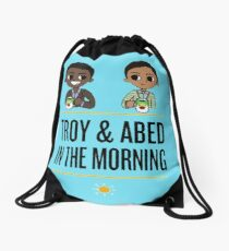 troy and abed - An image is not simply a trademark, a design, a slogan or an easily remembered picture. Drawstring Bag