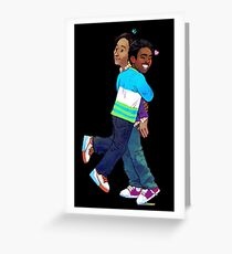 troy and abed - Creativity is to discover a question that has never been asked. Greeting Card