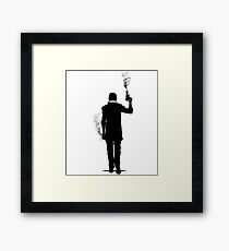 Smokes. Framed Print