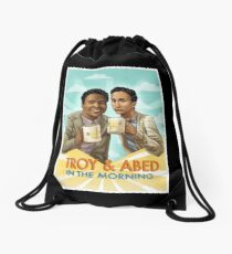 troy and abed - I strive for two things in design: simplicity and clarity. Drawstring Bag