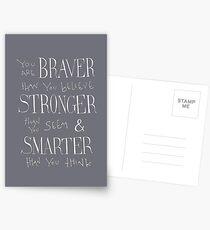 Du bist mutiger Postkarten