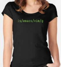 :s/emacs/vim/ Women's Fitted Scoop T-Shirt