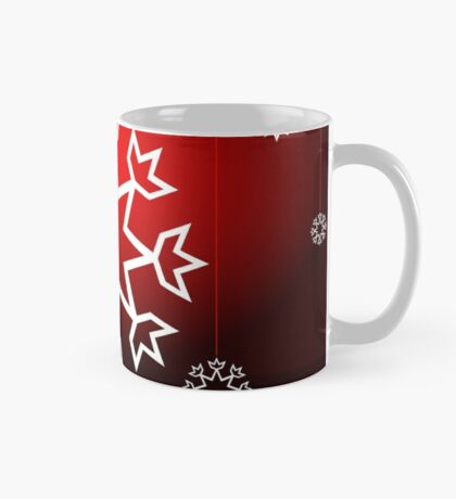 Red Xmas Snowflake design Mug