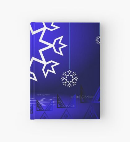 Native American Xmas snowflake on blue background tipi Hardcover Journal