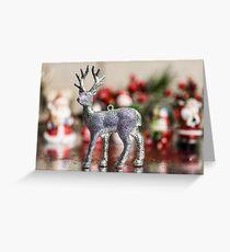 Glitter Deer Christmas  Greeting Card