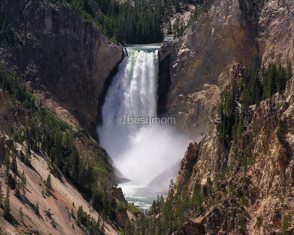 yellowstone waterfall by 1busymom