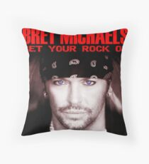 Get Your Rock On Bret Michaels Throw Pillow