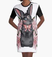 Lily Rabbit Graphic T-Shirt Dress