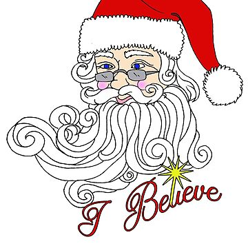 i believe in santa claus greeting card by SimiRaghavan