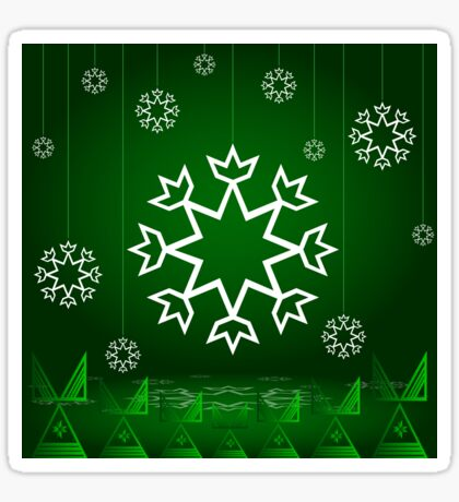 Green Xmas Snowflake with Tipi Sticker