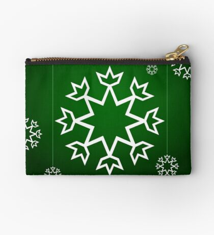 Green Xmas Snowflake with Tipi Studio Pouch
