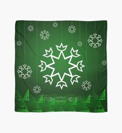 Green Xmas Snowflake with Tipi Scarf