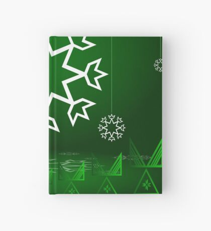 Green Xmas Snowflake with Tipi Hardcover Journal