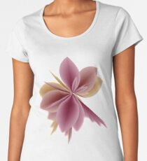 Fleur Gradient v1 in Old Rose Pink and Mauve Women's Premium T-Shirt