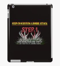 Zombie Survival Tips iPad Case/Skin