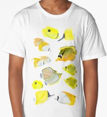 Butterflyfish of the tropical Pacific Long T-Shirt