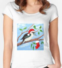 Christmas Stocking Women's Fitted Scoop T-Shirt