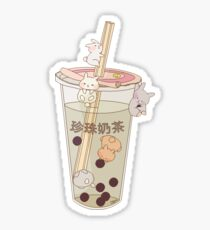 bubble tea & boba bunnies Sticker