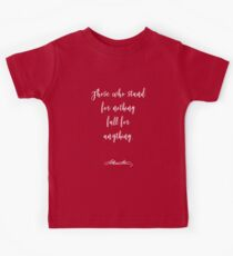 Alexander Hamilton Quote. Kids Tee
