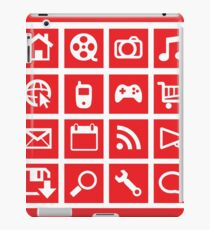 web icon graphics (red) iPad Case/Skin