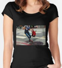 Red Zone, No Parking Women's Fitted Scoop T-Shirt