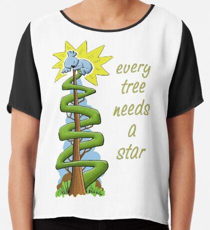 Every Tree Needs a (Koala) Star Chiffon Top
