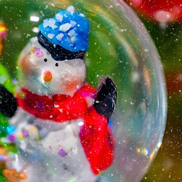 Christmas snowman in a snowglobe by adamcal