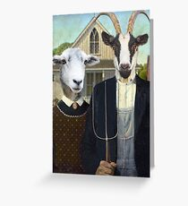 American Farmyard? Greeting Card