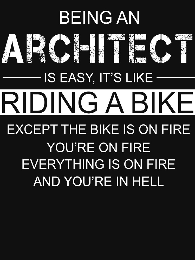 t shirt tre un architecte c 39 est comme faire du v lo. Black Bedroom Furniture Sets. Home Design Ideas