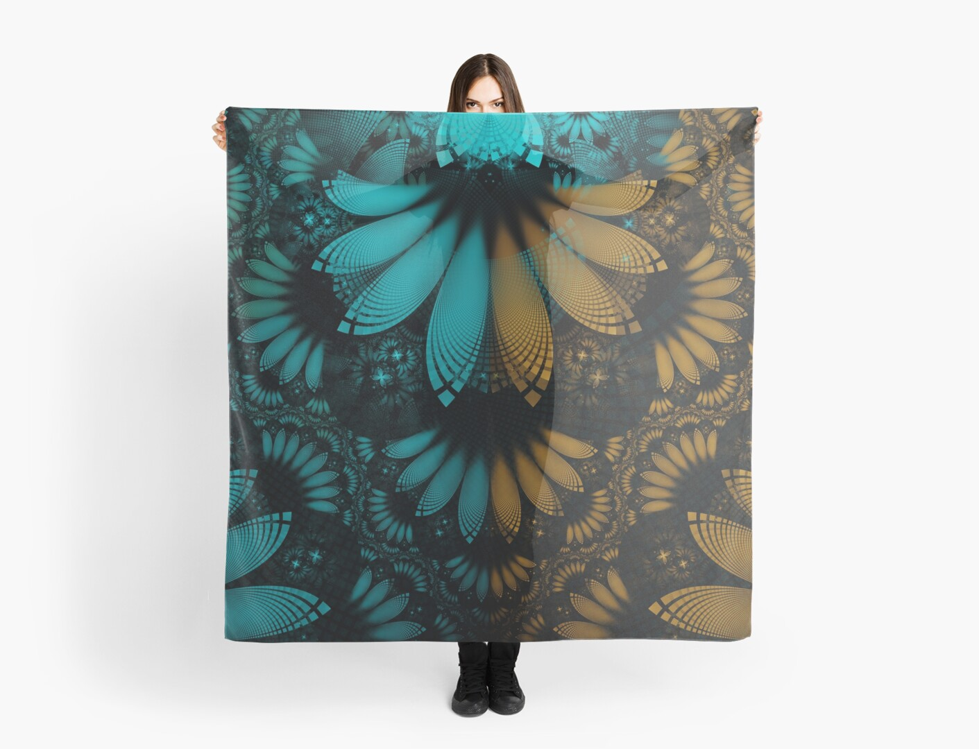 Shikoba Fractal -- Beautiful Leather, Feathers, and Turquoise by Jaya Prime