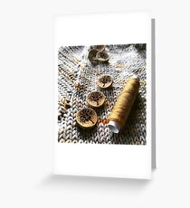 Knit, Thread, Buttons Greeting Card