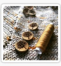 Knit, Thread, Buttons Sticker