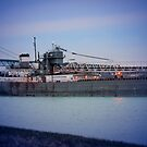 Great Lakes Freighter At Sunset - 2 by Barry W  King