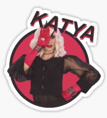 all caps katya Sticker