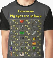 Runescape - My eyes are up here Graphic T-Shirt