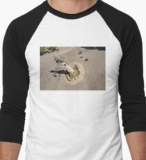 An Unusual Perspective of Plaza of the Virgin of the Kings in Seville Spain Men's Baseball ¾ T-Shirt