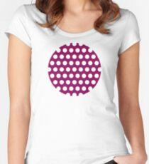 dots, medium purple and white Women's Fitted Scoop T-Shirt