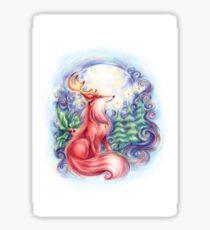 Festive Fox Sticker