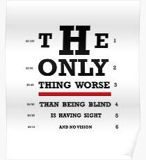 Vision Eye Chart Poster