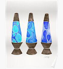 Retro Vibes – Blue Palette Poster