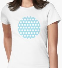 dots, pastel blue and white T-Shirt