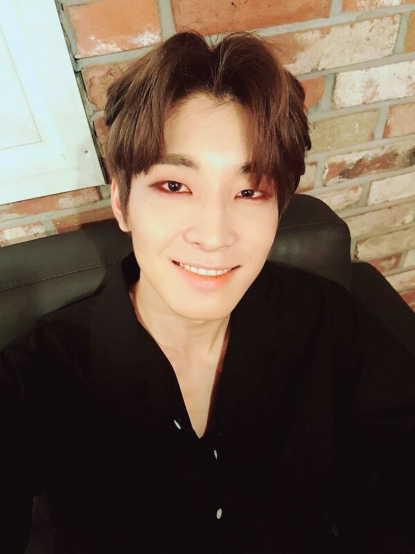 Quot Seventeen Wonwoo Couch Selca Quot Greeting Cards By