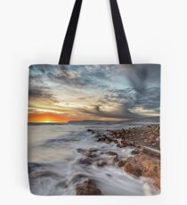 Compton Bay Sunset Isle Of Wight Tote Bag