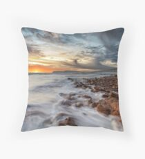 Compton Bay Sunset Isle Of Wight Throw Pillow