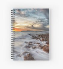 Compton Bay Sunset Isle Of Wight Spiral Notebook