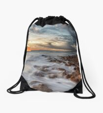 Compton Bay Sunset Isle Of Wight Drawstring Bag