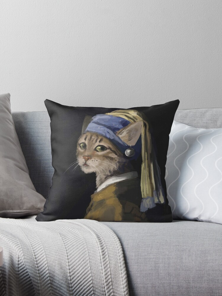 Cat with a Pearl Earring by comet-art