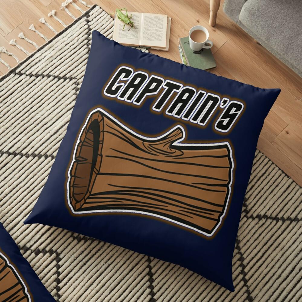STAR TREK CAPTAINS LOG DESIGN -star trek rb partner program Floor Pillow
